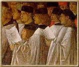 Singers in procession at San Marco, Venice
